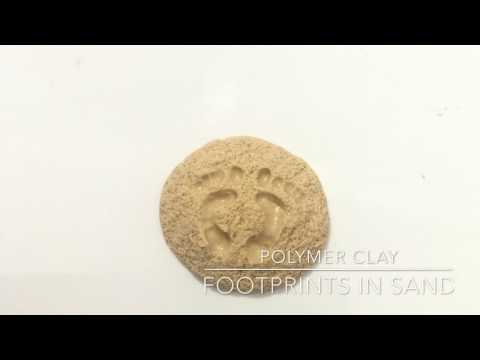 👣 Footprints in the sand 👣- Polymer clay tutorial