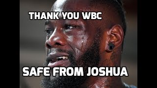 WBC  OFFICIALLY ORDERS  DEONTAY WILDER VS TYSON FURY REMATCH NEXT