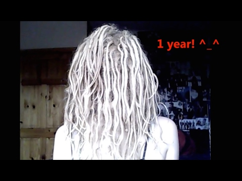 my 1 year natural free form dreadlock timeline