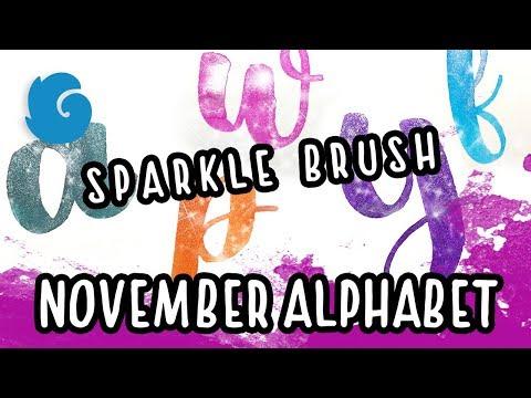 Winterbird's November Alphabet with Spectrum Noir Sparkle brush