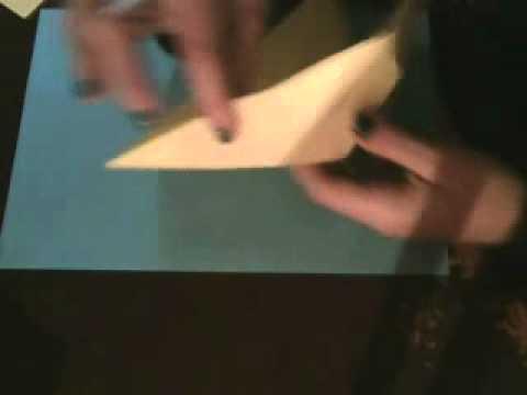 Origami. Grulla voladora - Flying crane