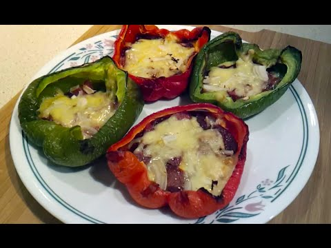 How to make Low Carb Pepperoni Pizza Stuffed Peppers