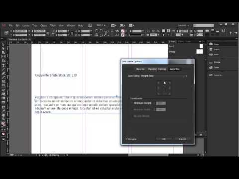 Fitting text frames to content - InDesign CC Tutorial [12/20]