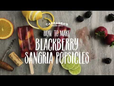 How To Make Blackberry Sangria Popsicles