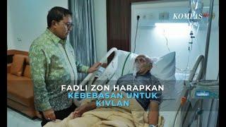 Jenguk ke Rumah Sakit, Fadli Zon Doakan Agar Kivlan Zen Dibebaskan