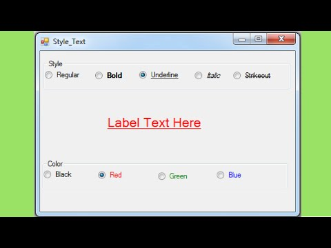 VB.NET - How To Style Text Font In Visual Basic .Net [ with source code ]