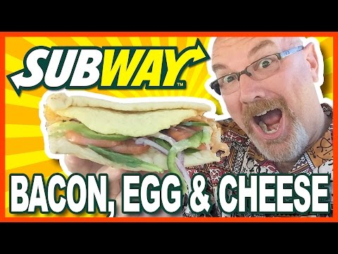 Subway Breakfast ♥ Bacon, Egg & Cheese on Flat Bread