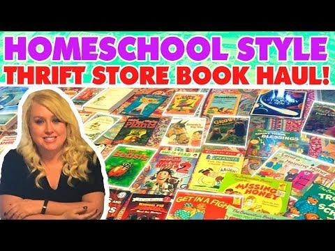 Homeschool Style Thrift Store Book Haul!  📚  📚  📚