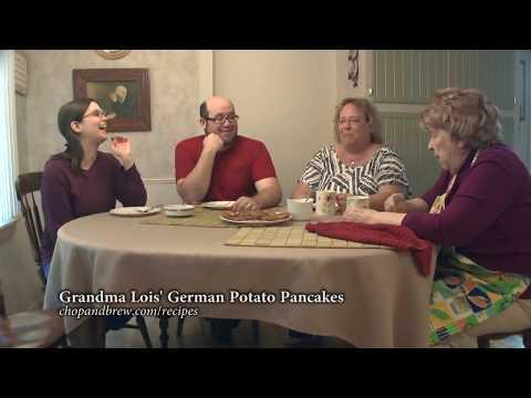 German Potato Pancakes with Mom & Grandma Lois