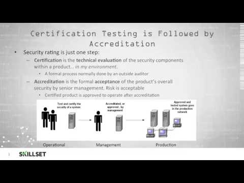 Certification and Accreditation (CISSP Free by Skillset.com)
