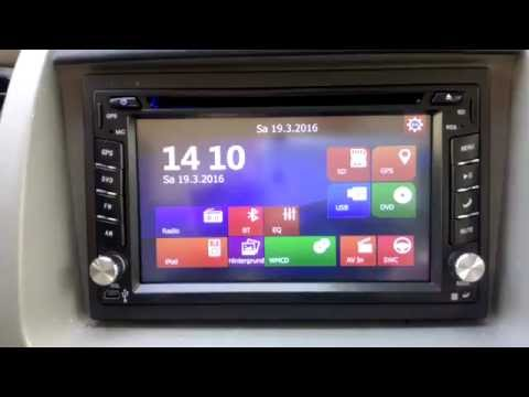 GPS Navigation HD 2DIN 6.2 Inch Car Stereo DVD Player Bluetooth iPod MP3 TV Camera