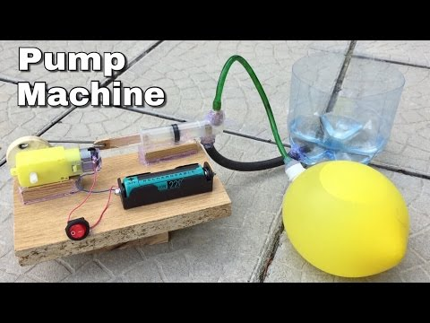 How to Make a Mini Pump Machine (Water and Air Pump in One) - Easy to Build - Tutorial