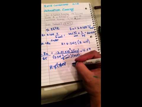 rate constant and activation energy