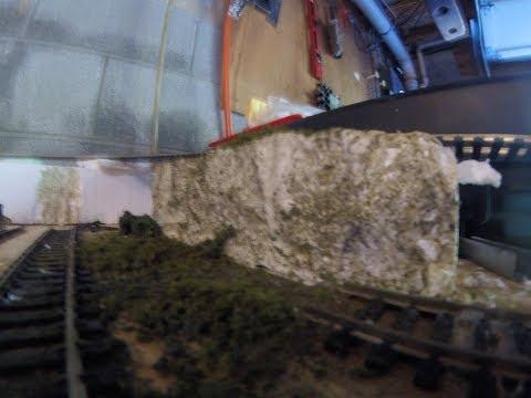 Turning Styrofoam  into rock cliff!!!!