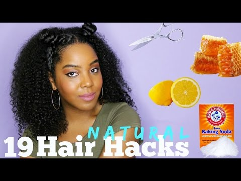 19 Natural Hair Hacks You NEED To Know | Melissa Denise