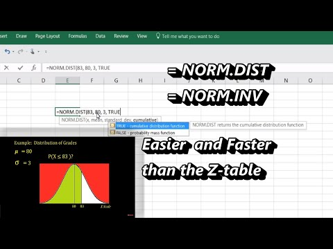 How to Use Excel's Normal Distribution Function =NORMDIST and =NORMINV