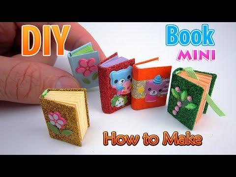 DIY Miniature Book   DollHouse   No Polymer Clay!
