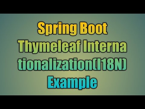 57.Spring Boot Thymeleaf Internationalization(i18n) Example