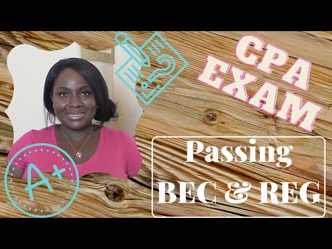 Passing BEC & REG Sections - CPA Exam
