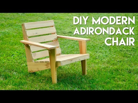DIY Modern Adirondack Chair   How To Build - Woodworking