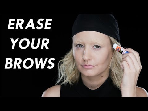 How To Cover Your Eyebrows With a Glue Sick | Halloween Tutorial