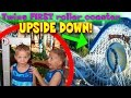 Twins First Upside Down Roller Coaster California Screamin A
