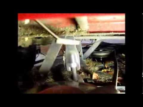 MTD Wizard mower deck removal
