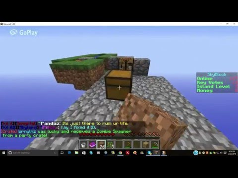 Minecraft: How To Make A Wheat Farm On Skyblock