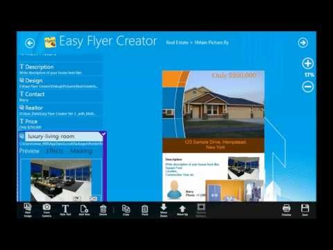 Introduction to Easy Flyer Creator (Publishing App with templates for flyer, brochures, posters)