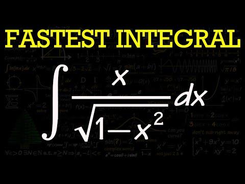 Integral of x/sqrt(1-x^2)