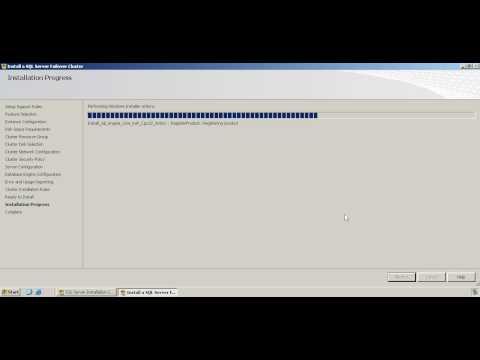 6  MS SQL Server 2008 Failover Cluster Installation