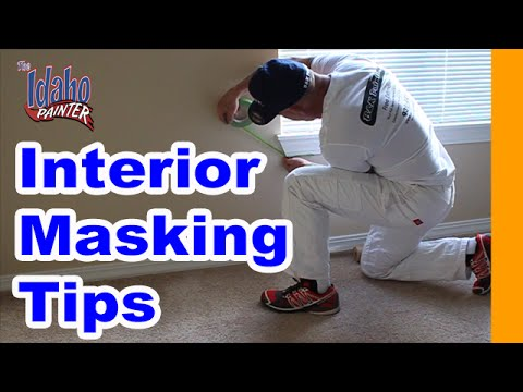 MASKING BEFORE PAINTING TIPS.  What To Mask With Painters Tape and a Handmasker.  Interior masking
