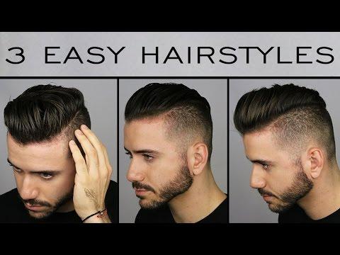 3 Quick & Easy Men's Hairstyles | Men's Hair Tutorial | ALEX COSTA