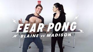 Siblings Play Fear Pong (Blaine vs. Madison) | Fear Pong | Cut