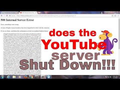 500 Internal Server Error #what happen on youtube @12:30am 3/04/2018 ????????