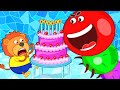 Lion Family 🐛 Story about Worm Slither.io on Birthday Party. Xylophone | Cartoon for Kids