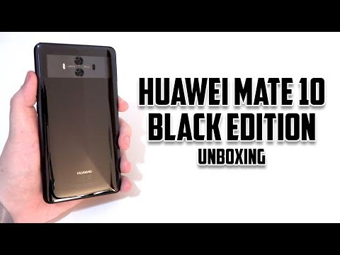 Huawei Mate 10 Black Edition Unboxing
