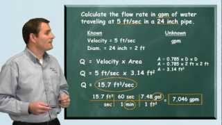 Problem Solved: Flow Rate Formula - Water Treatment, Distribution and Wastewater Math