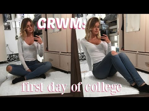 Get Ready With Me: FIRST DAY OF SCHOOL - FRESHMAN YEAR AT COLLEGE