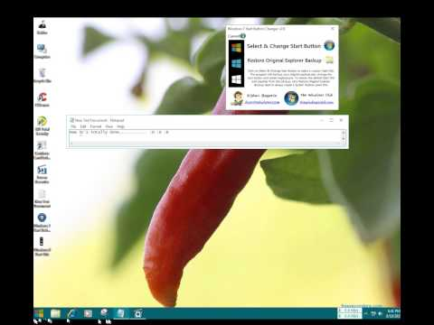 How To Change Windows Start Icon So Simple Make Like Windows 8 or 10 or Give your own photo