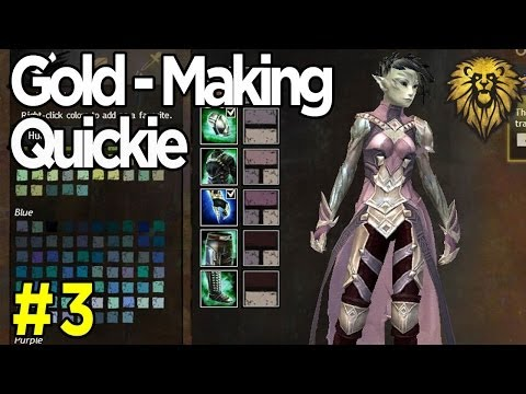 Gold-Making Quickie #3 - Crafting & Selling Dyes - Guild Wars 2