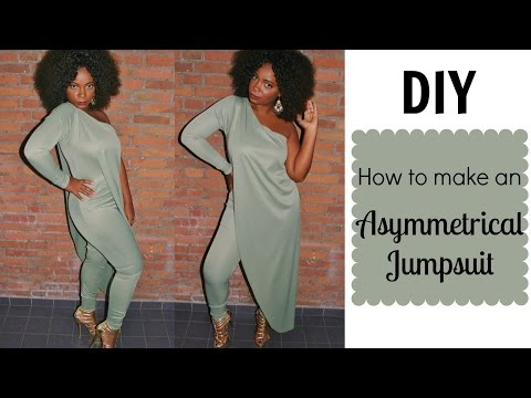 DIY  How To Make an Asymmetrical Jumpsuit