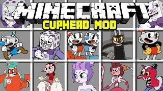 Minecraft CUPHEAD MOD / CUPHEAD, MUGMAN, KING DICE & MORE! | Minecraft Modded Minigame