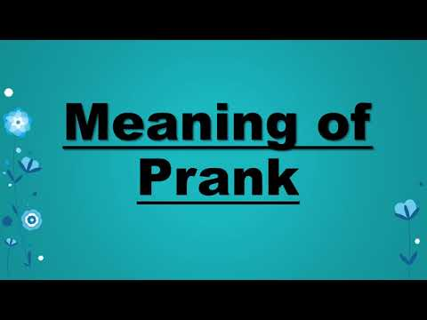 Meaning of prank