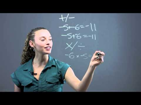 How to Add, Subtract, Multiply & Divide Negative Numbers : Math Questions & Answers
