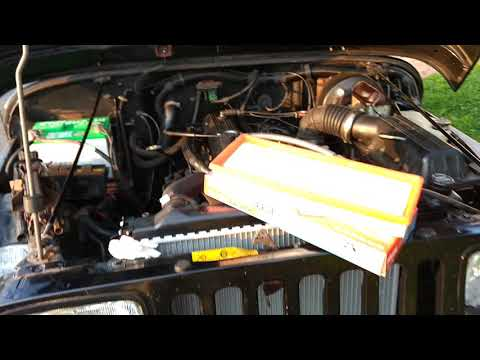 Air filter replacement tips 1991 Jeep Wrangler YJ