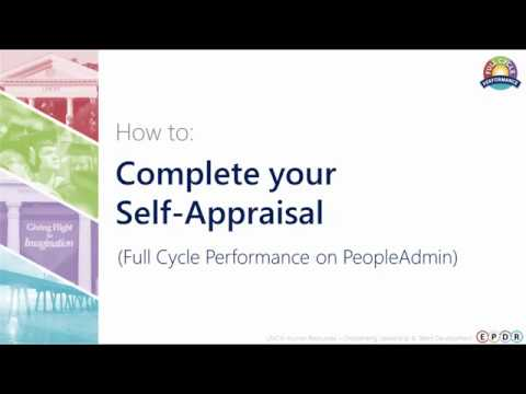 How to: Complete Your Self-Appraisal (Employee)
