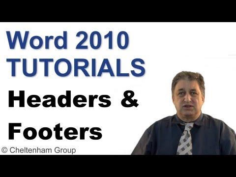 Word 2010 Tutorial | Headers & Footers | Full Course