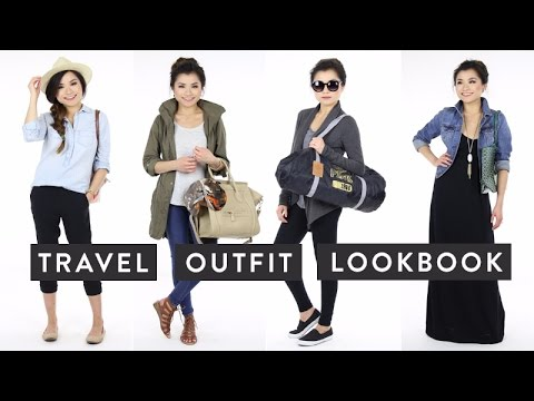 Travel Outfit Ideas Lookbook | Cute Comfortable Fashionable Traveling Outfits | Miss Louie