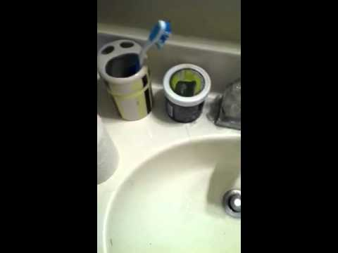 This is how you clean up a fast an easy bathroom